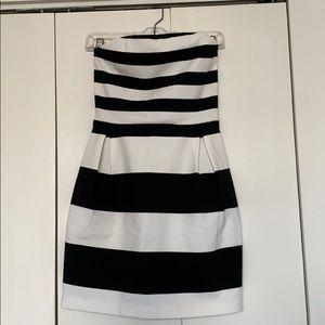 Express striped mini dress
